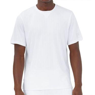 Fila White Line V Notch Crew Shirt Mens White TM118751 100