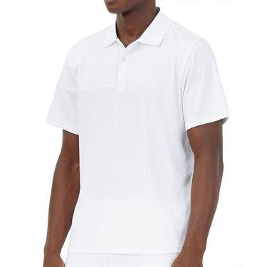 Fila White Line Polo Shirt Mens White TM118752 100