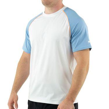 Fila Wild Card Crew Shirt Mens White/Dusk Blue/Musk Melon TM13A562 100