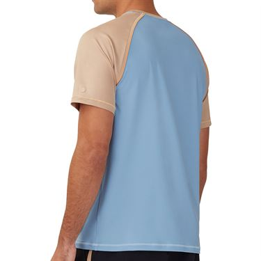 Fila Wild Card Crew Shirt Mens Dusk Blue/Black/Musk Melon TM13A562 437