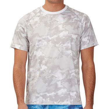 Fila Deuce Court Printed Crew Shirt Mens White/Multi Print TM13A879 108