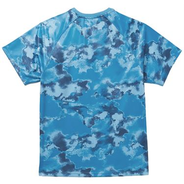 Fila Deuce Court Printed Crew Shirt Mens Mediterranian Blue/Multi Print TM13A879 461