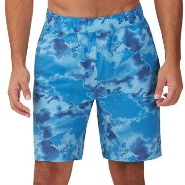Fila Deuce Court Printed Short Mens Mediterranian Blue/Multi Print TM13A881 461
