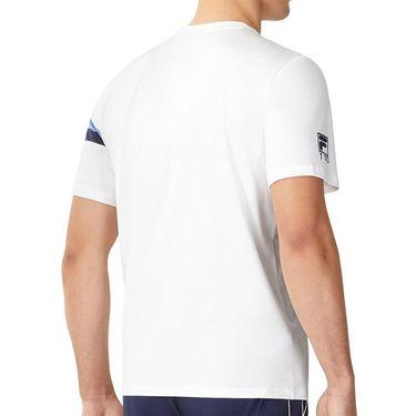 Fila 110 Year Crew Shirt Mens White/Navy/Marina TM13B176 100