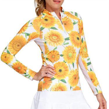 Tail Sunshine Long Sleeve 3/4 Zip Top Womens Flower Burst TS2815 L751
