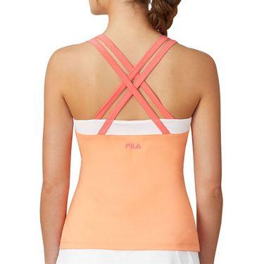 Fila Mad For Plaid Crossback Cami Tank Womens Melon/Calypso Coral/White TW015547 879
