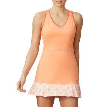 Fila Mad For Plaid Dress Womens Melon/Plaid/Calypso Coral TW015548 879