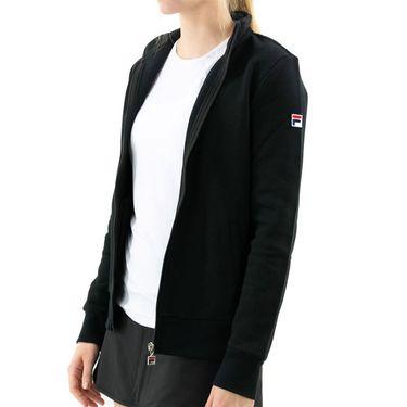 Fila Match Fleece Full Zip Jacket Womens Black TW016941 001
