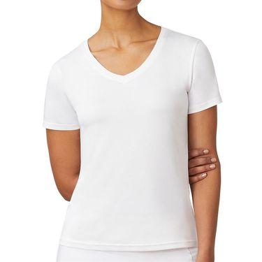 Fila Short Sleeve V Neck Top Womens White TW016943 100