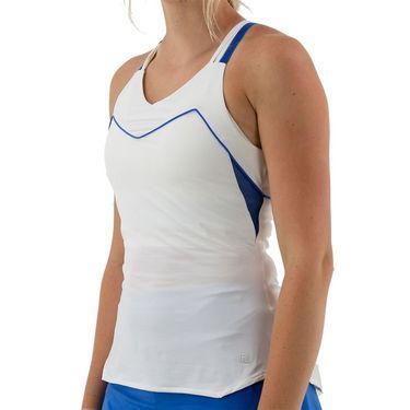 Fila Celestia Point Cami Tank Womens White/Celestial Blue TW036895 101