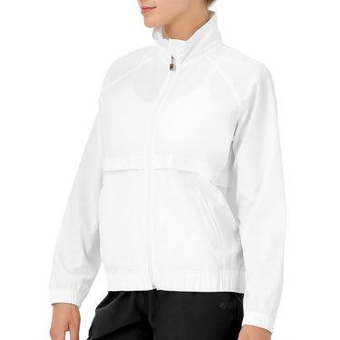 Fila Tie Breaker Jacket Womens White/Glacier Gray TW118293 100