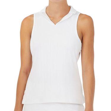Fila White Line Full Coverage Sleeveless Polo Womens White TW118718 100