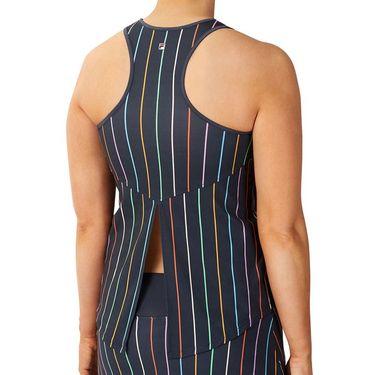 Fila Cross Court Tie Up Back Tank Womens Indigo Ink/Rainbow Stripe TW118776 096