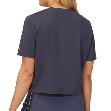 Fila Cross Court Graphic Tee Shirt Womens Indigo Ink TW118781 096