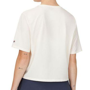 Fila Cross Court Graphic Tee Shirt Womens Whisper White TW118781 139