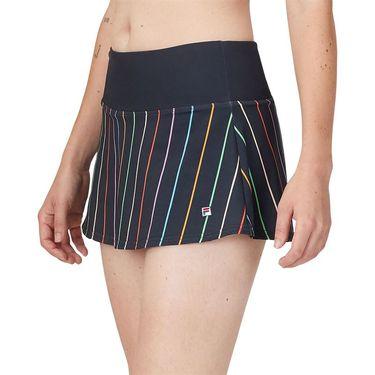 Fila Cross Court Stripe Skirt Indigo Ink/Rainbow Stripe TW118783 096