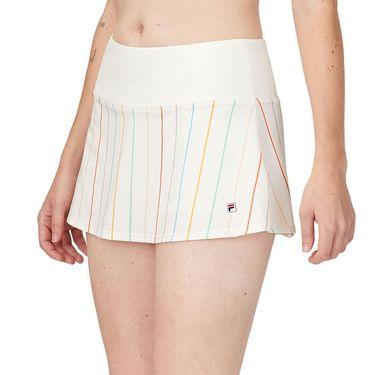 Fila Cross Court Stripe Skirt Whisper White/Rainbow Stripe TW118783 139