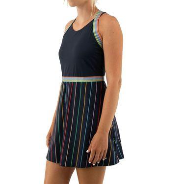 Fila Cross Court Cross Back Dress Womens Indigo Ink/Rainbow Stripe TW118784 096
