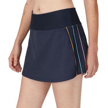 Fila Cross Court High Waist Skirt Womens Indigo Ink/Rainbow Stripe TW118785 096