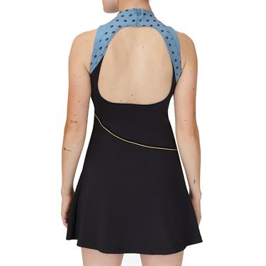 Fila Wild Card Dress Womens Black/Rattan/Dusk Blue TW13A583 001