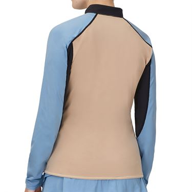 Fila Wild Card 1/4 Zip Long Sleeve Top Womens Stucco/Moonlight/Black/Rattan TW13A584 254