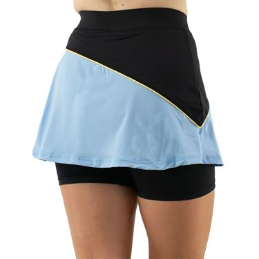 Fila Wild Card Flirt Skirt Womens Dusk Blue/Rattan/White TW13A585 437