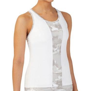Fila Deuce Court Racerback Tank Womens White/Multi Print TW13A885 106
