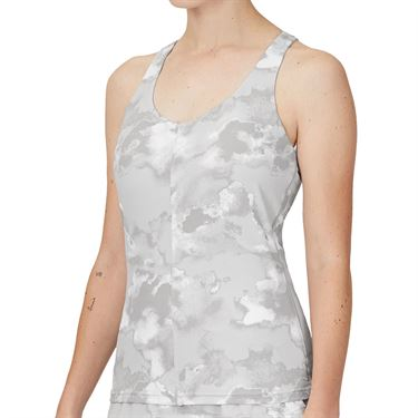 Fila Deuce Court Printed Racerback Tank Womens White/Multi Print TW13A886 108