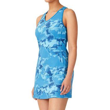 Fila Deuce Court Printed Dress Womens Mediterranian Blue/Multi Print TW13A887 461