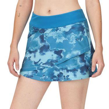 Fila Deuce Court Tiered Skirt Womens Mediterranian Blue/Multi Print TW13A888 461