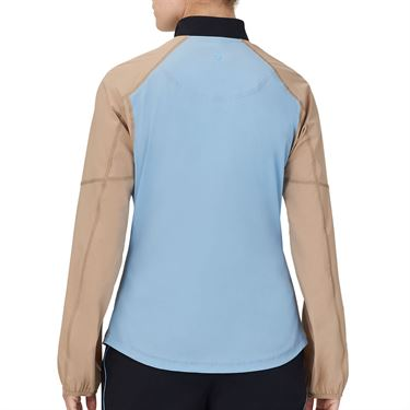 Fila Wild Card Jacket Womens Dusk Blue/Rattan/White TW13A891 437