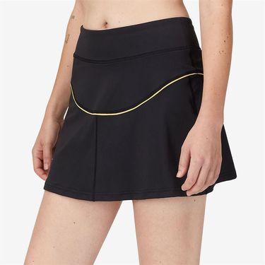 Fila Wild Card Scoop Skirt Womens Black/Rattan/Dusk Blue TW13A916 001