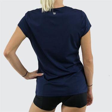 Fila Foundation Cap Sleeve Top Womens Navy TW171WM4 412