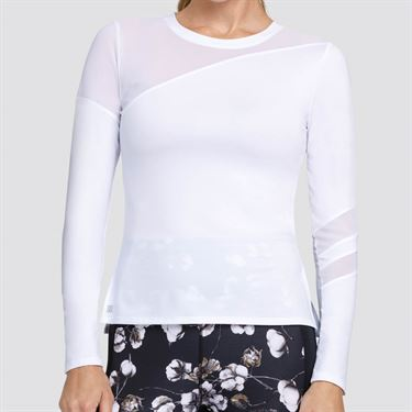 Tail Essentials Augusta Long Sleeve Top Womens Chalk TX2660 120X