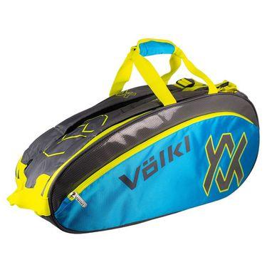 Volkl Tour Combi Tennis Bag - Charcoal/Blue/Yellow