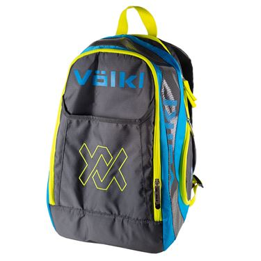 Volkl Tour Tennis Backpack - Charcoal/Blue/Yellow