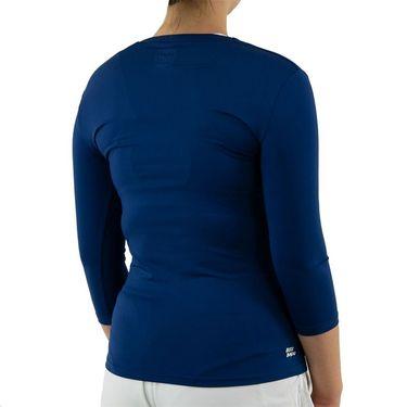 Bidi Badu Ariana Tech V Neck Long Sleeve Womens Dark Blue W224013 193 DBL