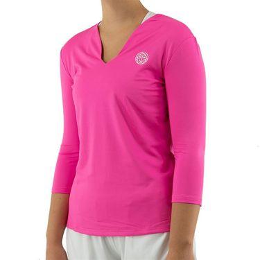 Bidi Badu Ariana Tech V Neck Long Sleeve Womens Pink W224013 193