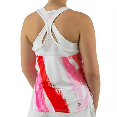 Bidi Badu Amrei Tech Tank Womens White/Red W334006 211