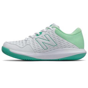 New Balance 696v4 (B) Womens Tennis Shoe - White/Agave