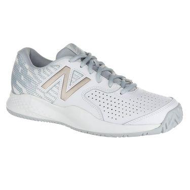 New Balance WCH696G3 (B) Womens Tennis Shoe - White/Rose Gold