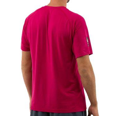 Wilson 2019 US Open Competition Seamless Henley Shirt Mens Granita WRA773702