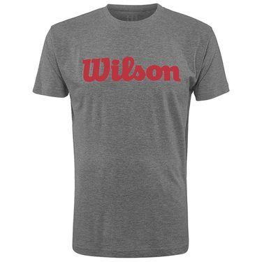 Wilson Promo Condition Script Tee Mens Dark Grey WRA777801