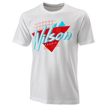 Wilson Nostalgia Tech Tee Mens White WRA779401