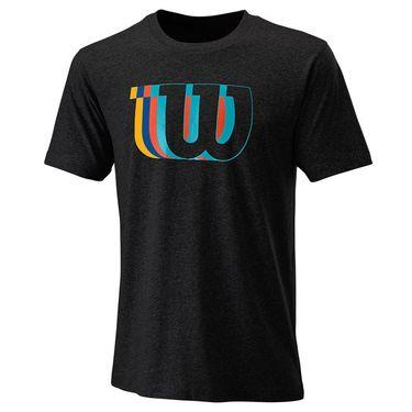 Wilson Blur Tech Tee Mens Black WRA779603