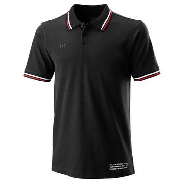 Wilson Since 1914 Pique Polo Mens Black WRA780102