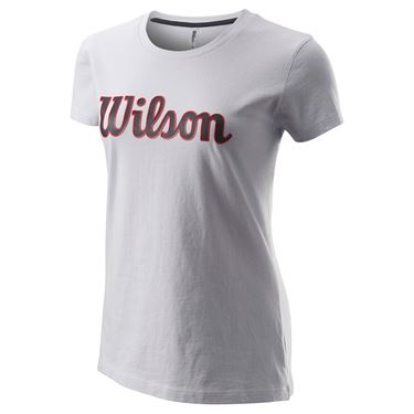 Wilson Script Cotton Tee IV Womens Rocket WRA787602