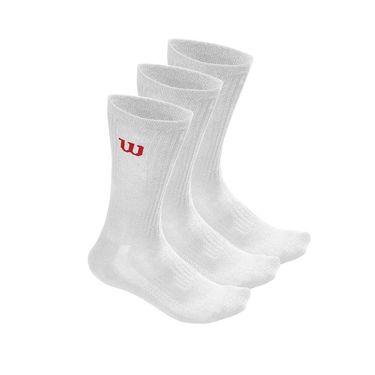 Wilson Crew Mens Sock 3 Pack - White