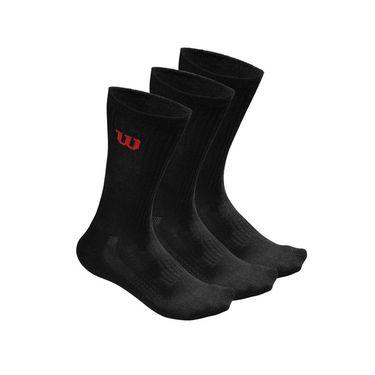 Wilson Crew Mens Sock 3 Pack - Black
