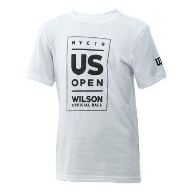 Wilson 2019 US Open Youth Lockup Tee Shirt White WRAX032WH